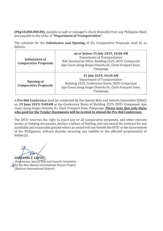 Invitation To Submit Comparative proposal 2